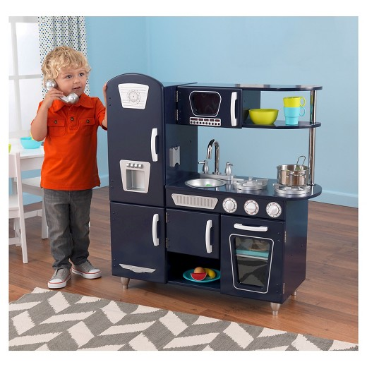Kidkraft Kitchen kidkraft navy vintage kitchen : target