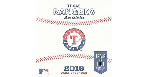 Texas Rangers 2016 Team Calendar (Paperback) - image 1 of 1