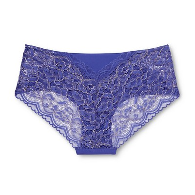 Women's Bonded Lace Hanging Hipster Blue Diamond M