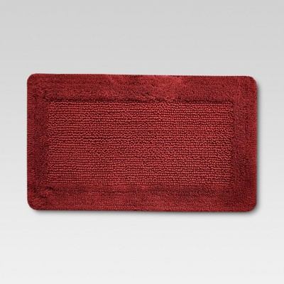 Ultra Soft Bath Rug - Wave Red - Threshold™