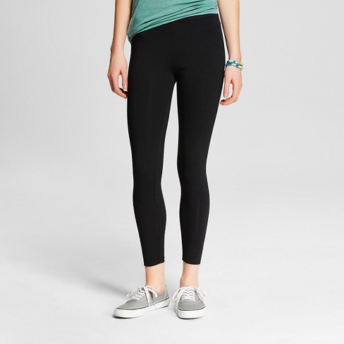 Women's Cropped Leggings - Mossimo Supply Co.™ Black - image 1 of 2