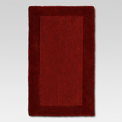 Ultra Soft Bath Rug - Wave Dark Red - Threshold™
