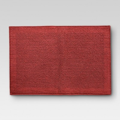 Ultra Soft Bath Mat - Wave Dark Red - Threshold™