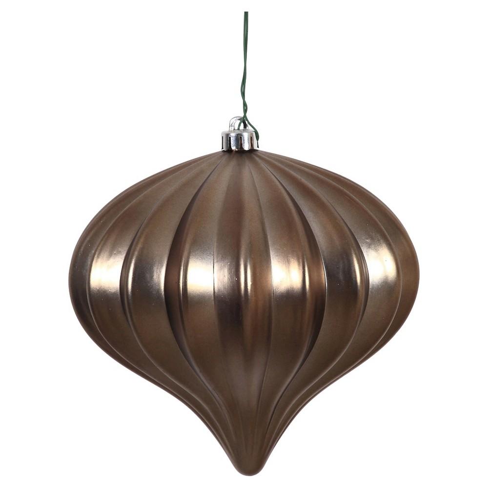 3ct Pewter Matte Onion-Shaped Christmas Ornament Set, Gray