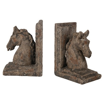 A&B Home Set of 2 Horse Bookends (5.5X4X7.5 )
