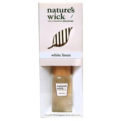 Mini Reed Diffuser White Linen 2oz - Nature's Wick®