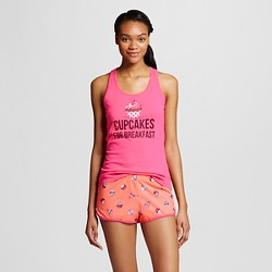 Women's Tank/Shorts Pajama Set - Cupcakes For Breakfast
