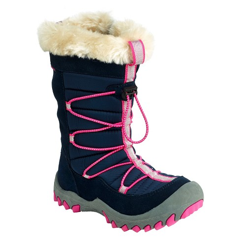 M.A.P. Girls' Sequoia Waterproof Winter Boots - Navy/Pink - image 1 of 3