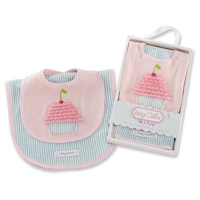 Baby Aspen Baby Cakes Bib & Burp Set