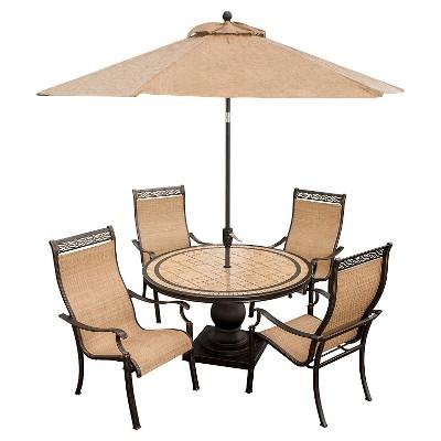 Hanover Outdoor Furniture Monaco 5 Piece Outdoor Dining