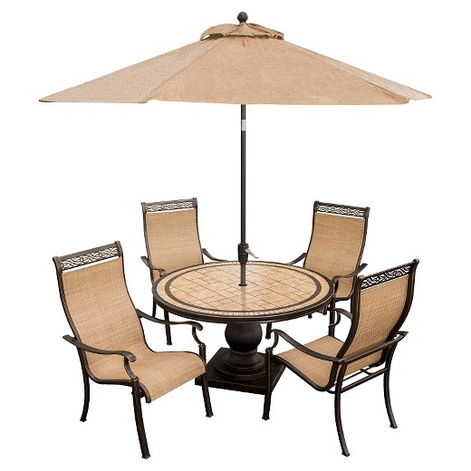 Hanover Outdoor Furniture Monaco 5 Piece Outdoor Dining Set with