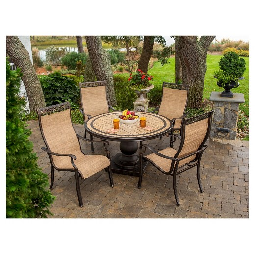 loved ... - Hanover Outdoor Furniture Monaco 5 Piece Outdoor Dining Set With