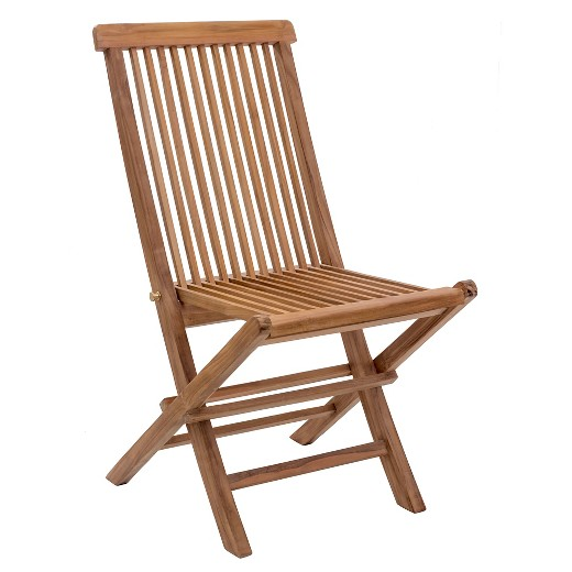 Modern Teak Folding Chair Natural ZM Home Tar