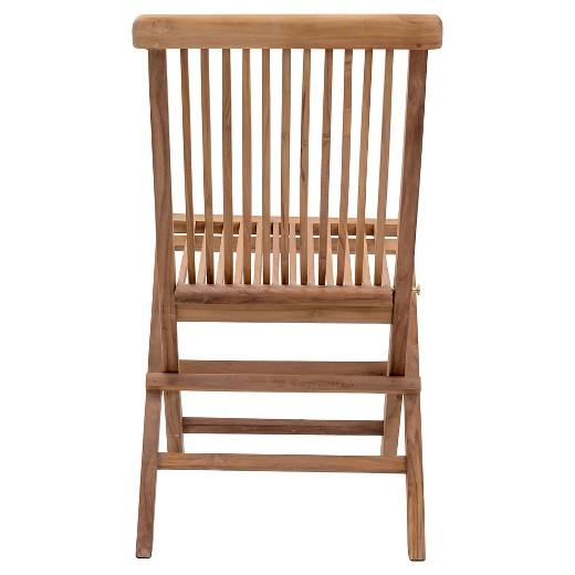 Modern Teak Folding Chair Natural ZM Home Tar