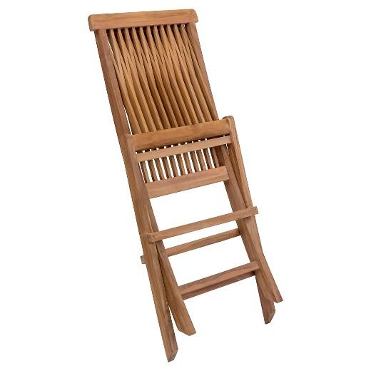 Teak Folding Chair modern teak folding chair - natural - zm home : target