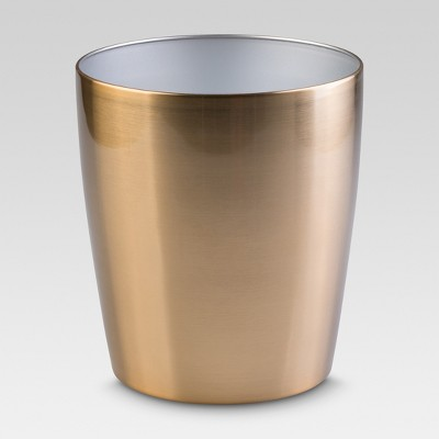 Steel Round Wastebasket Brass - Threshold™