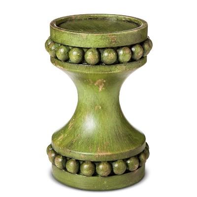 Short Pillar Candle Holder Light Green 4 x6