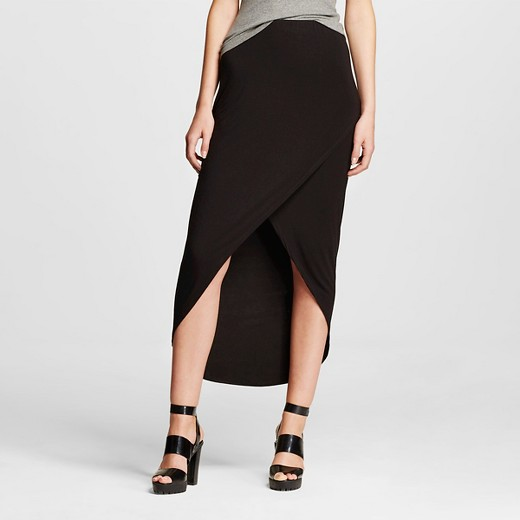 s tulip maxi skirt black mossimo target