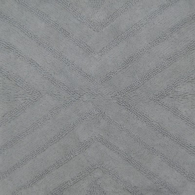 Textured Stripe Square Bath Rug Silver Springs - Nate Berkus™