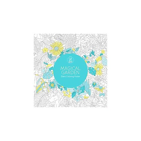 Magical Garden Adult Coloring Book: Giant Coloring Poster : Target