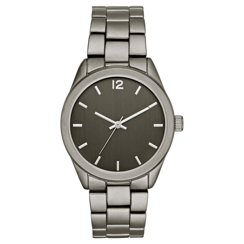 Mens Matte Finish Bracelet Watch Gunmetal - Mossimo, Black