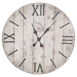 Ellsworth 29 Quot Wall Clock Distresses White Uttermost