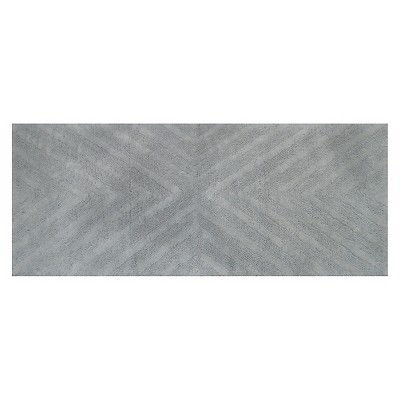 Textured Stripe Bath Rug Runner (23 X58 )Silver Springs - Nate Berkus™