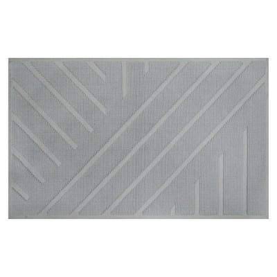 Geo Stripe Bath Mat (20 X34 )Silver Springs - Nate Berkus™