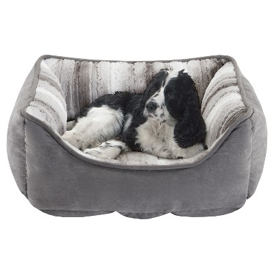 Buster Reversible Rectangular Gray/Multi-Color Pet Cuddler - 24 x34 x12