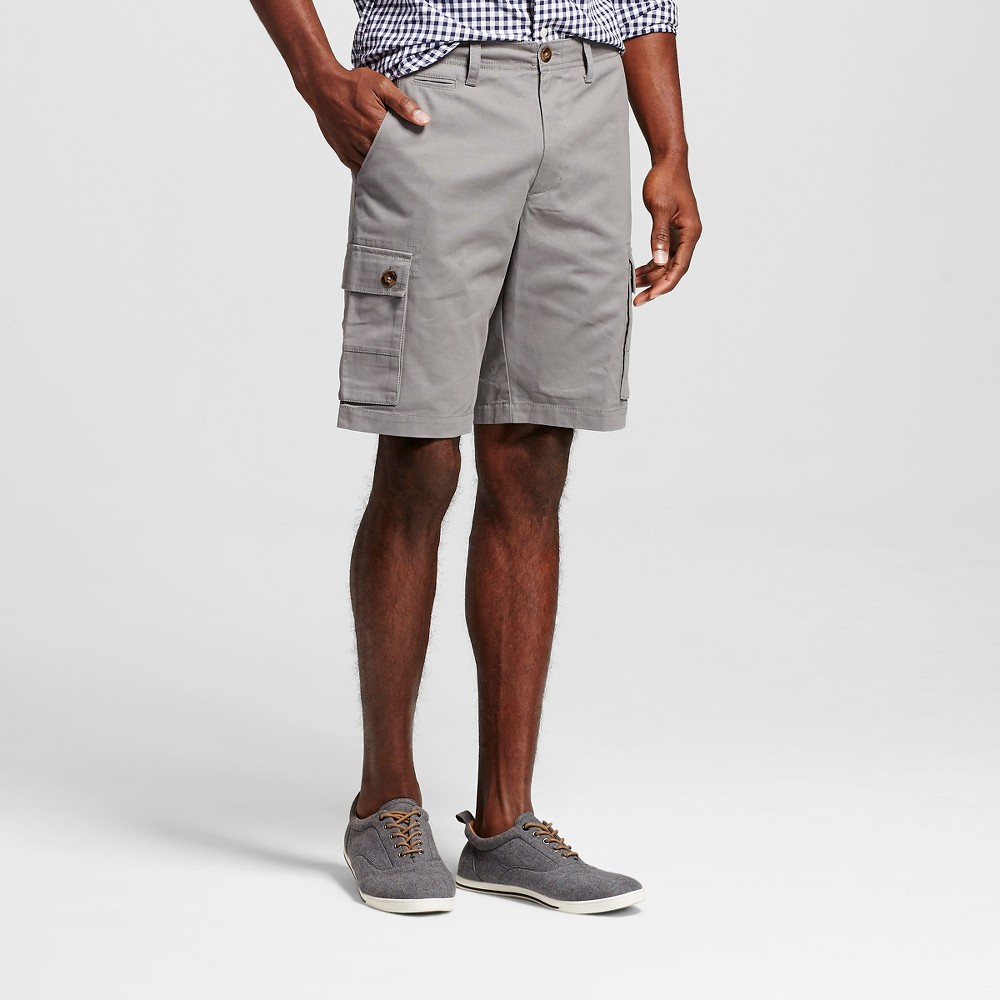 Mens Cargo Shorts - Merona Gray 32