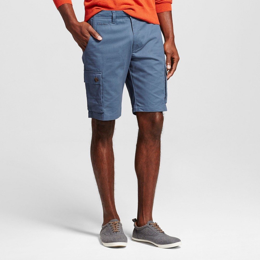 Mens Cargo Shorts - Merona Blue 36