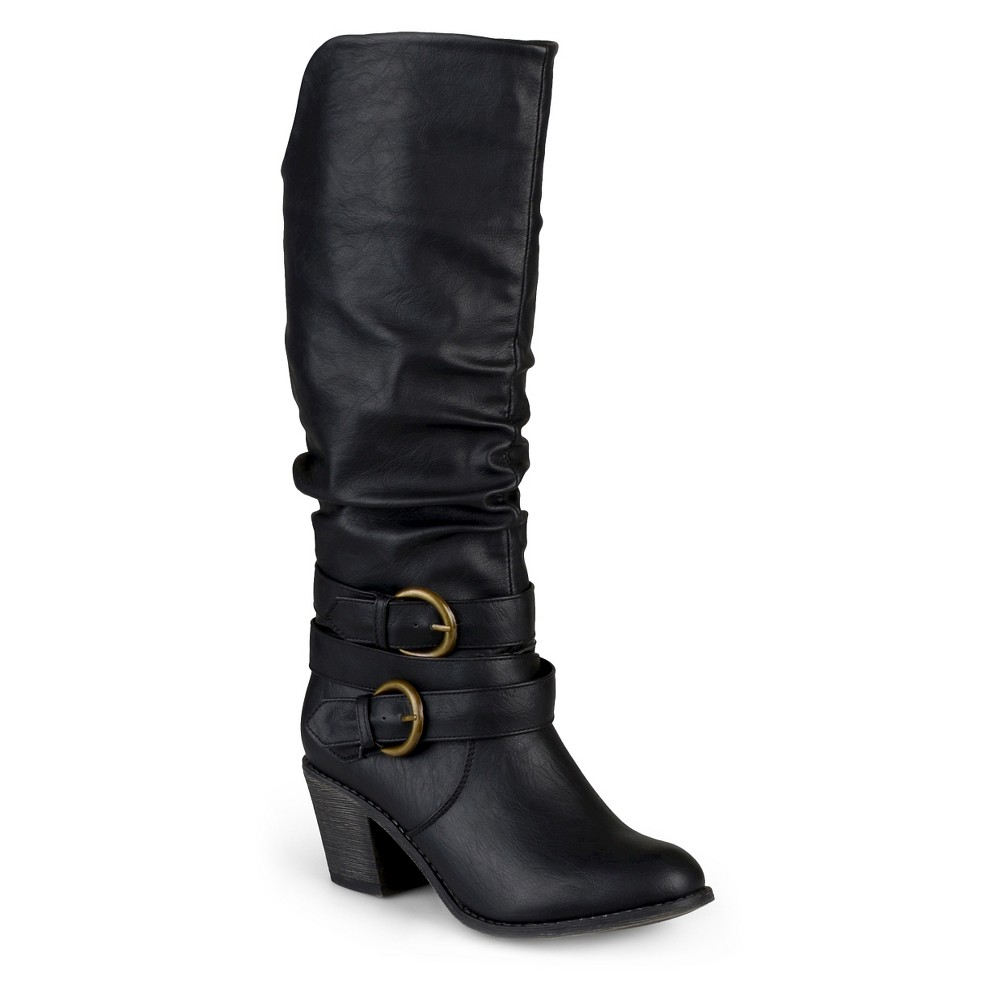 Womens Journee Collection Wide Calf Fashion Boots - Black 10W, Size: 10 Wide Calf