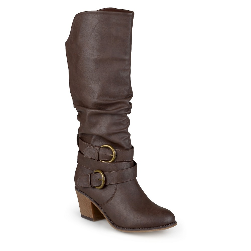 Womens Journee Collection Wide Calf Fashion Boots - Brown 11W, Size: 11 Wide Calf