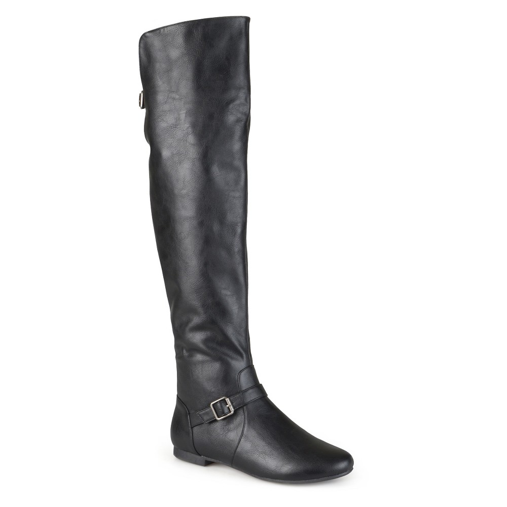 Womens Journee Collection Tall Riding Boots - Black 8.5