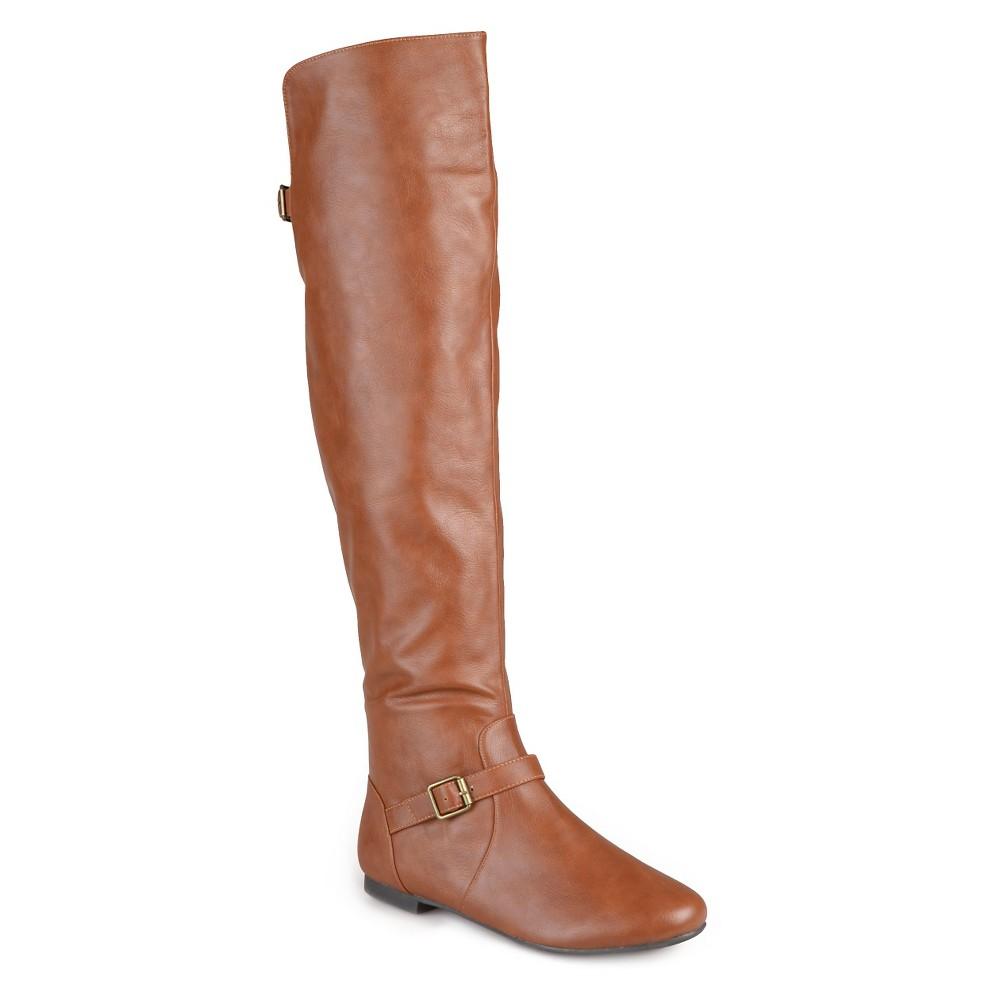Womens Journee Collection Tall Riding Boots - Chestnut 6, Dark Chestnut