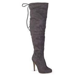 Women's Journee Collection Fashion Boots - Gray 8.5