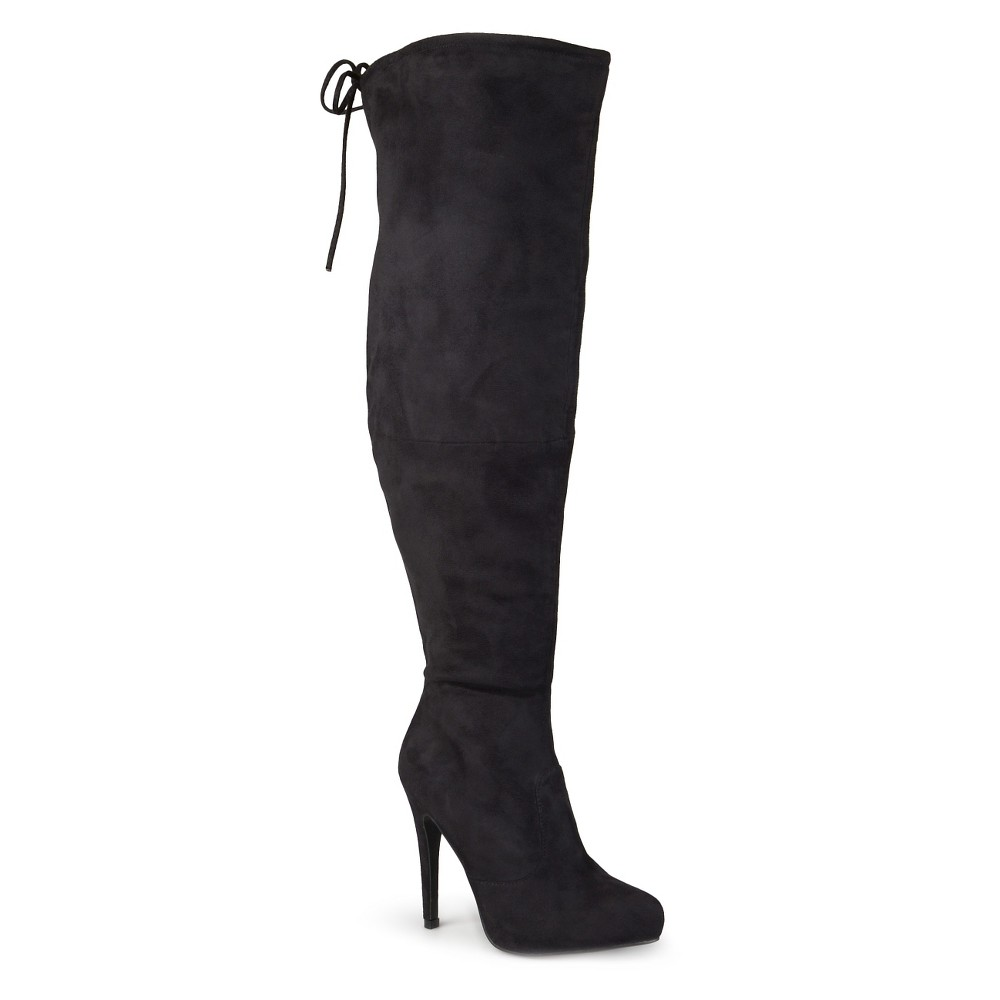 Womens Journee Collection Wide Calf Fashion Boots - Black 8W, Size: 8 Wide Calf