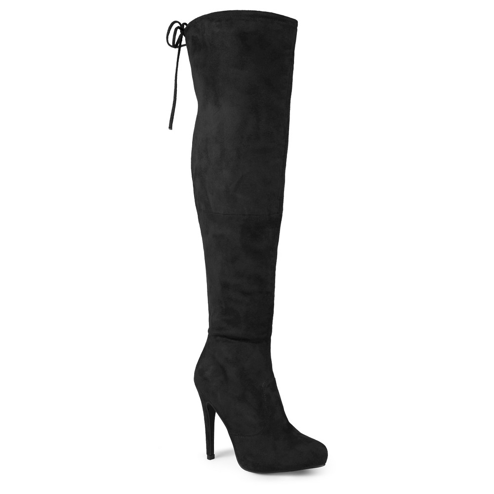 Womens Journee Collection Wide Calf Fashion Boots - Black 8.5W, Size: 8.5 Wide Calf