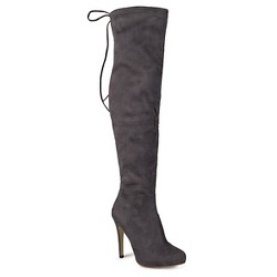Women's Journee Collection Wide Calf Fashion Boots - Gray  9W