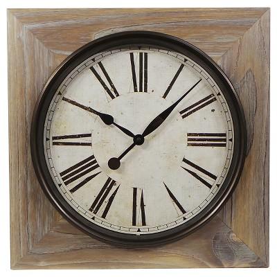 Washed Wood Wall Clock 23  - Threshold™