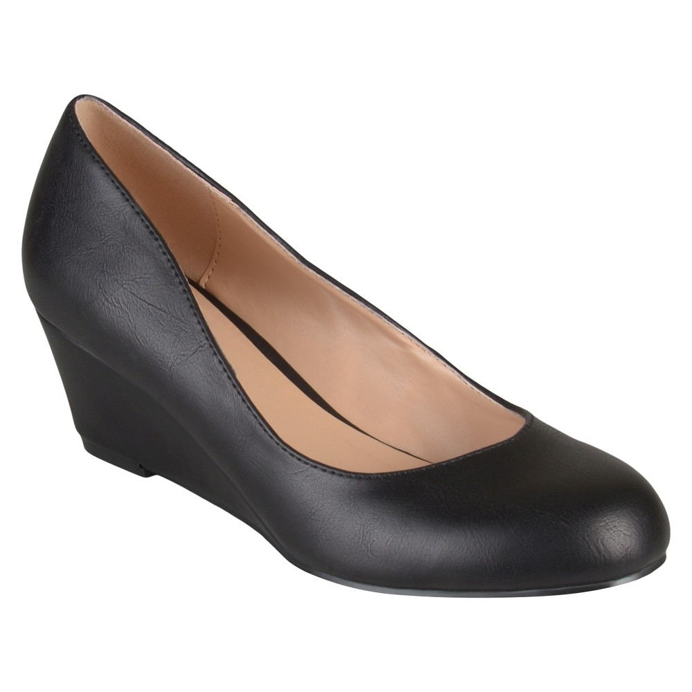 Womens Journee Collection Round Toe Classic Wedges - Black 8