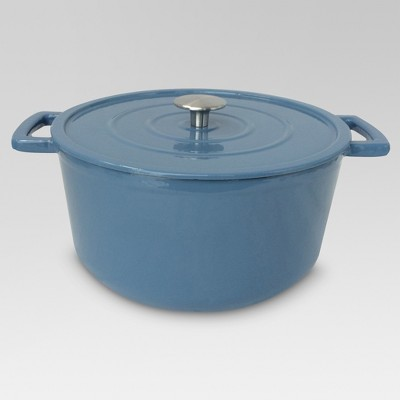 6 Quart Cast Iron Dutch Oven - Washed Blue - Threshold™
