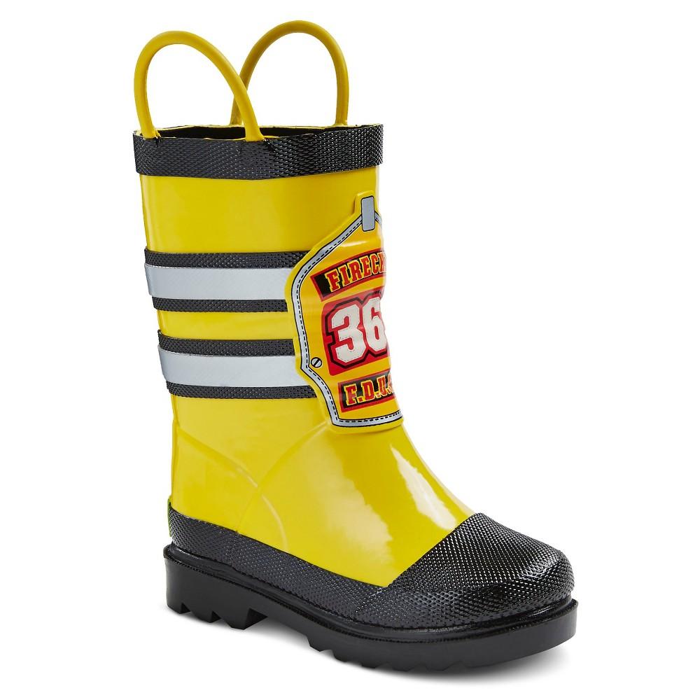 Toddler Boys Firechief Rain Boot 13-1, Yellow