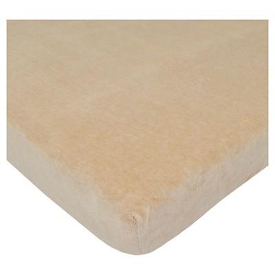 TL Care® Organic Cotton Velour Fitted Portable/Mini Crib Sheet - Mocha