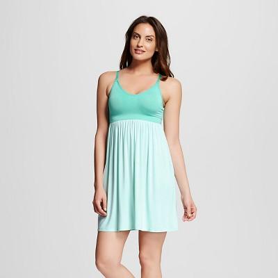 Women's Nursing Fluid Knit Sleep Chemise Aqua M - Gilligan & O'Malley™