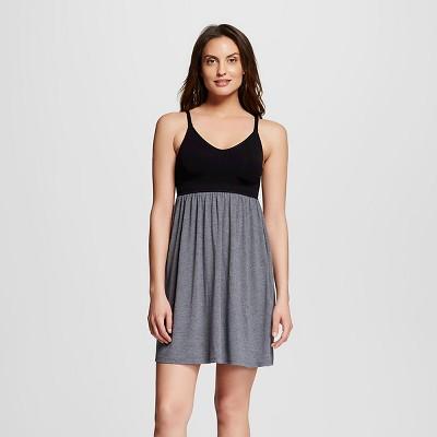 Women's Nursing Fluid Knit Sleep Chemise Black M - Gilligan & O'Malley™
