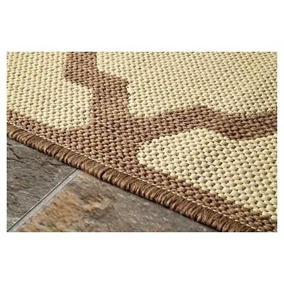 nuLOOM Gina Outdoor Moroccan Trellis Polypropylene Patio Area Rug, Beach Beige