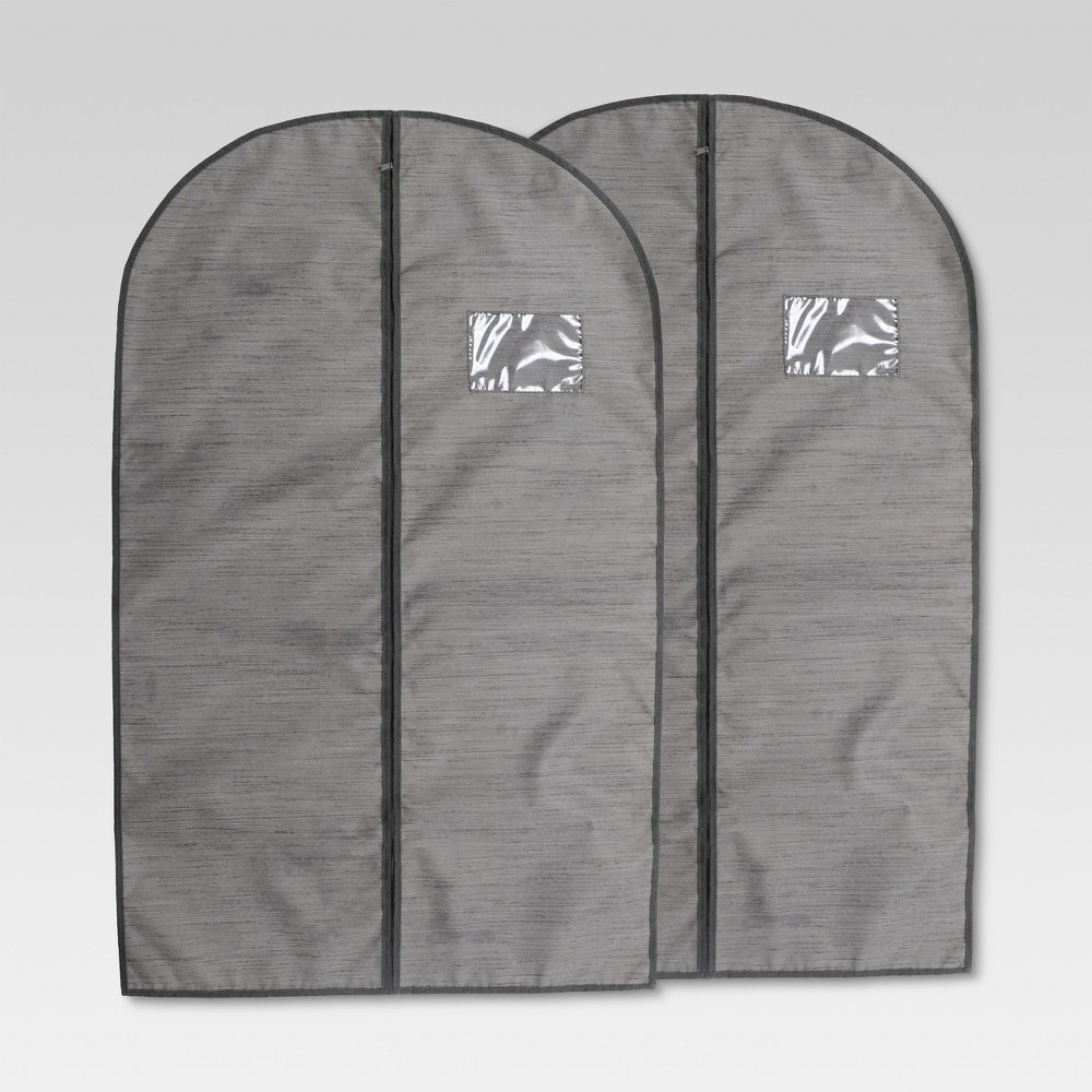 2pk Garment Bag Gray Birch - Threshold, River Birch