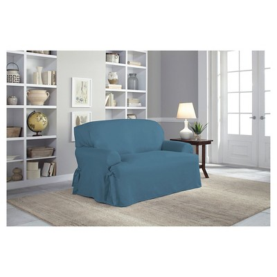 Relaxed Fit Duck Furniture Loveseat Slipcover   Serta : Target