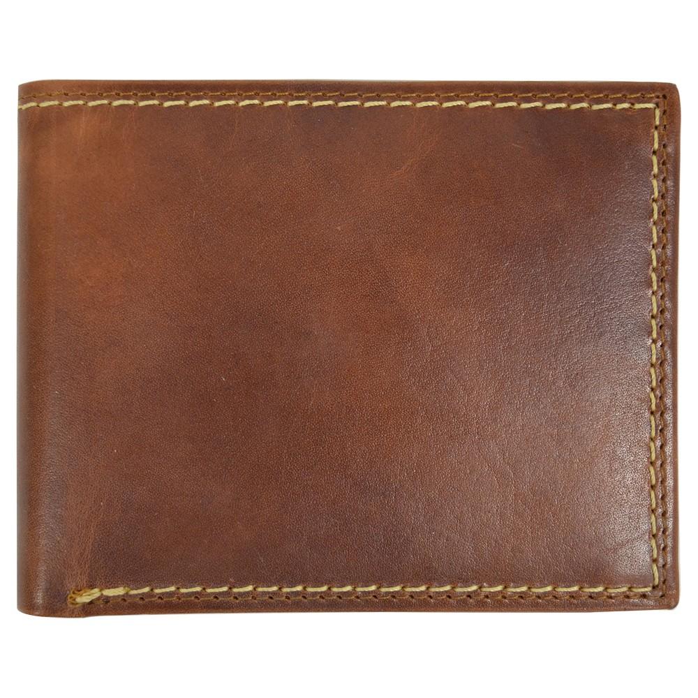 Swiss Gear Mens Bifold Leather Laredo Wallet Brown